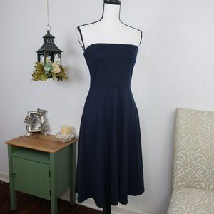 The Limited Strapless Fit Flare Knee-Length Dress